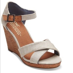Tom's Sienna Ankle Strap Wedges